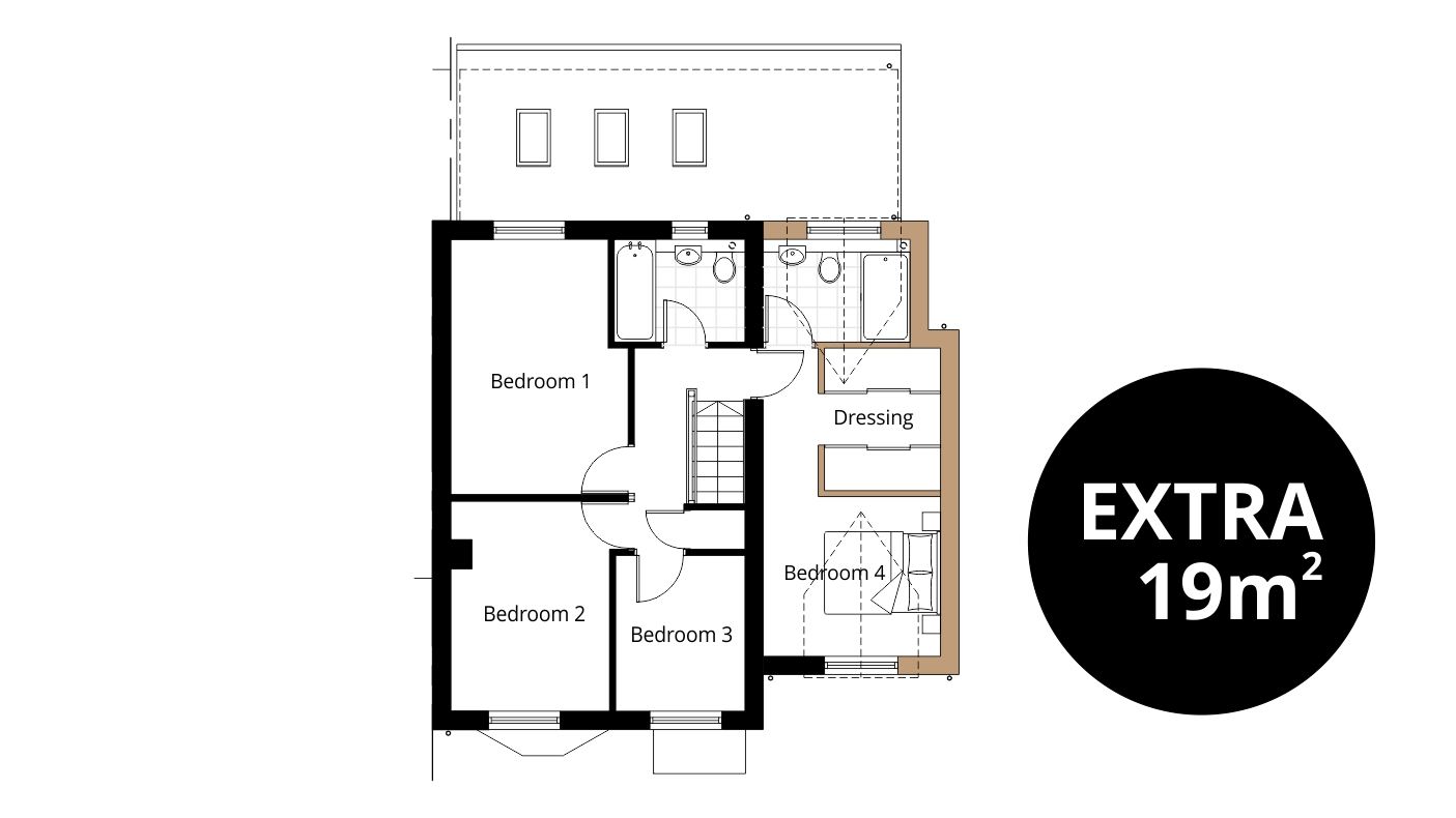 Bedroom Extension Ben Williams Home Design And