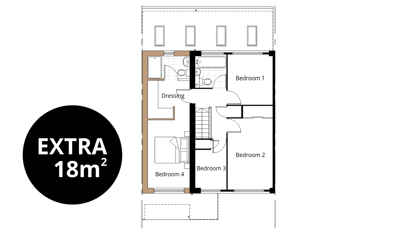 swindon bedroom extension floorplan drawing en suite ensuite dressing - Planning An Ensuite
