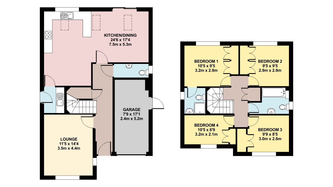 Colour Floor Plan Ben Williams Home Design And
