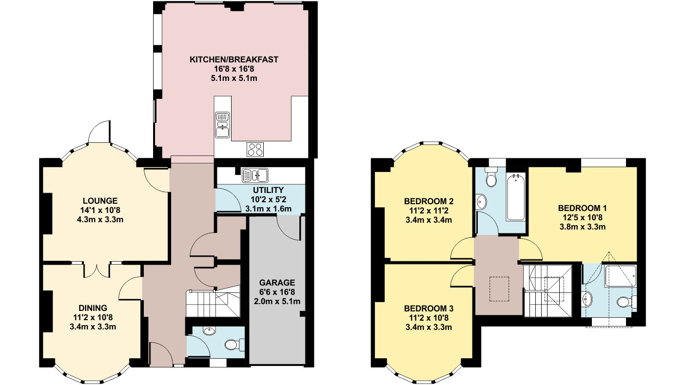 Colour floor plan ben williams home design and for Floor plan services