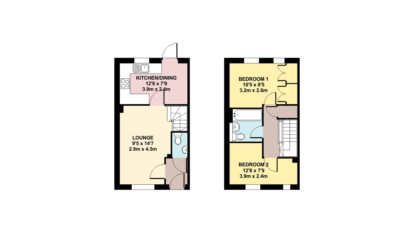 Colour Floor Plan Drawing Planning Application Marketing Swindon Wiltshire  Cotswolds Oxfordshire