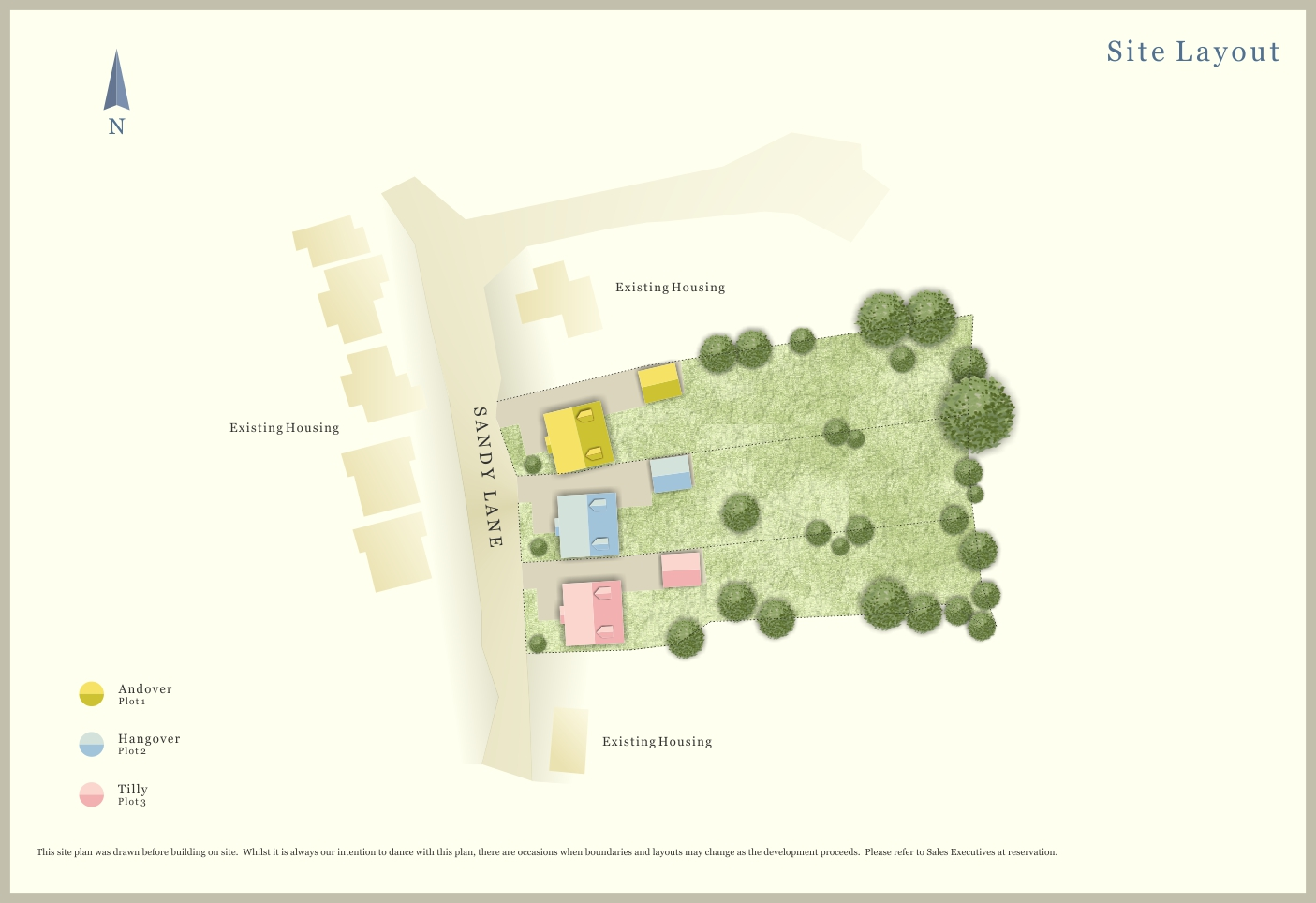 Colour Site Plan Ben Williams Home Design And