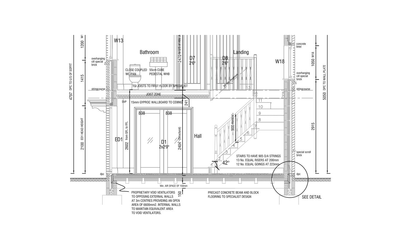 Superior Detail Construction Drawing House Extension New Build Quote Builders  Building Regulations Planning Swindon Wiltshire Cotswolds Oxfordshire