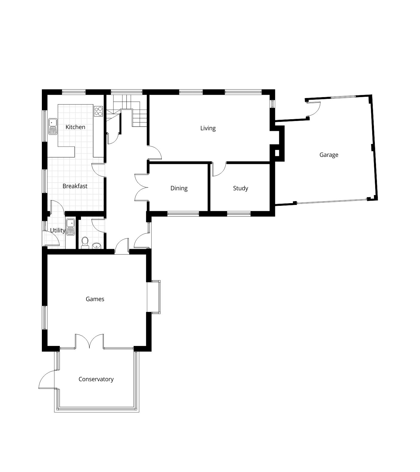 Two storey extension planning application vale of white for How to get floor plans of an existing building