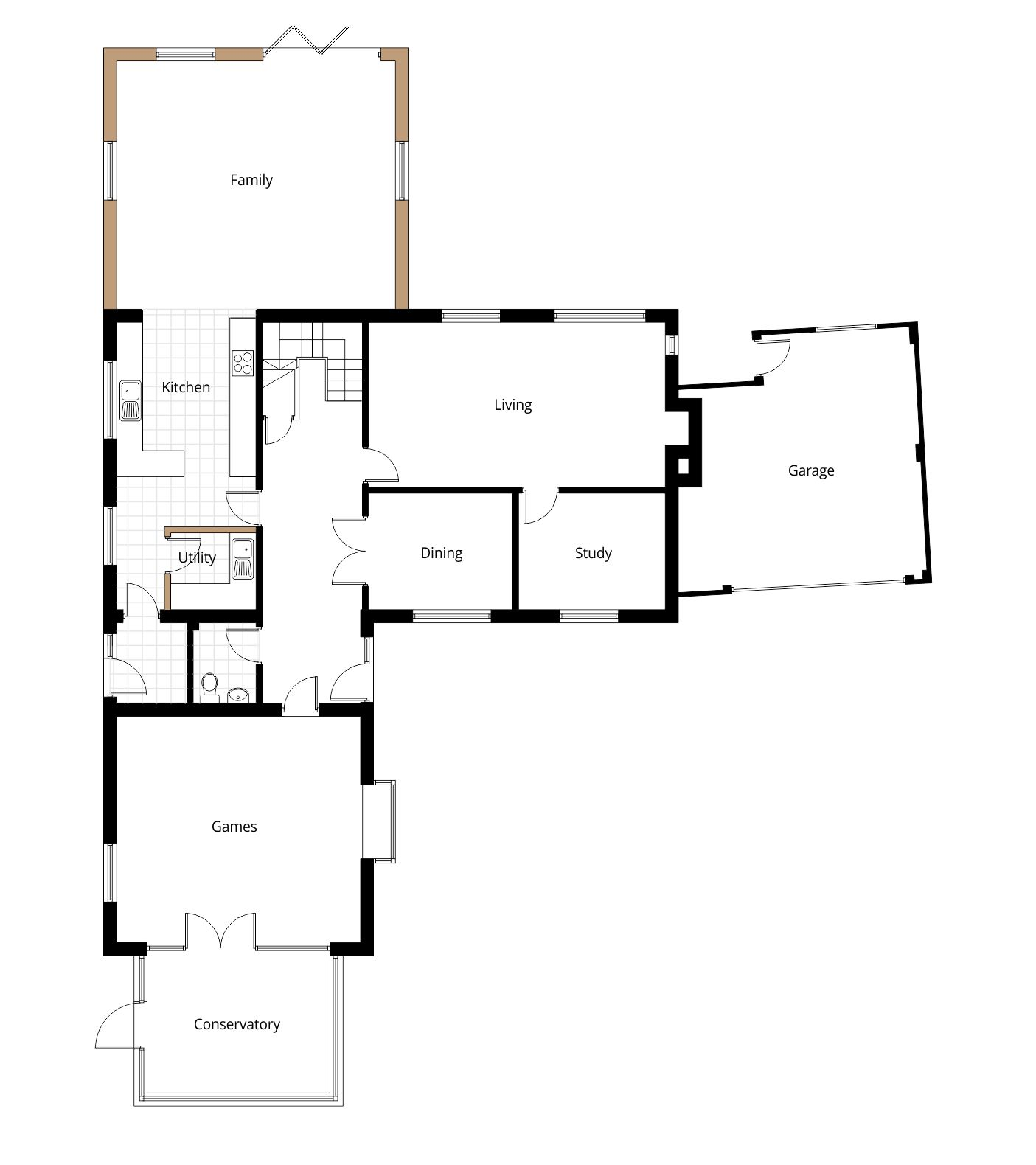 Two storey extension planning application vale of white for Floor plan drafting services
