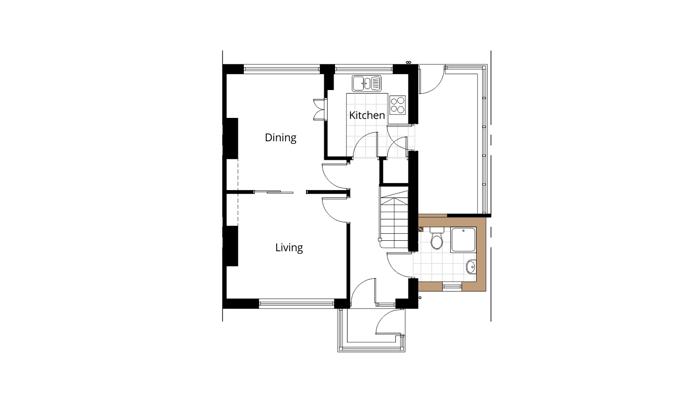 downstairs bathroom side extension project ben williams example house extension plans design 3