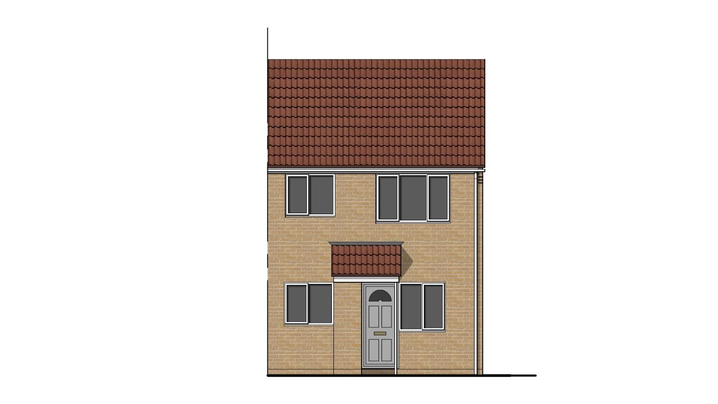 Front Elevation Of Houses In Uk : House extension drawing plans for swindon project ben