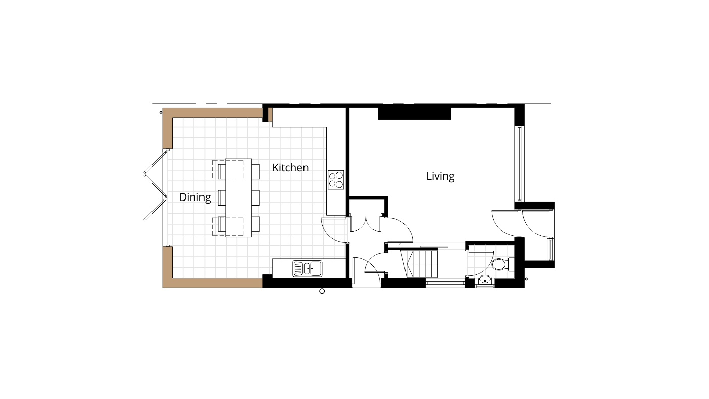 100 kitchen extension floor plans contact for help for Floor plans kitchen in front of house