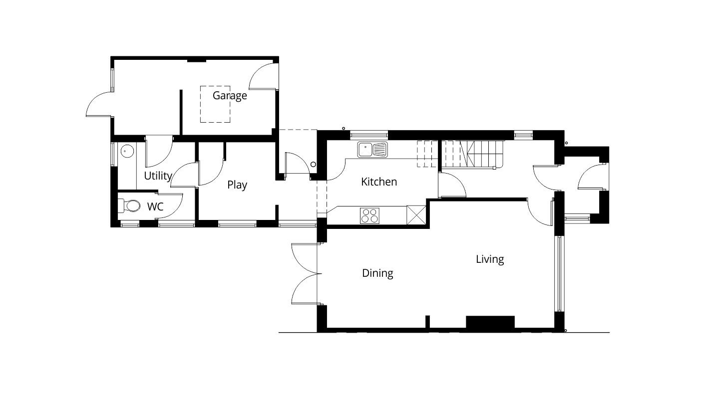 Single storey rear extension planning permission project for How to get floor plans of an existing building