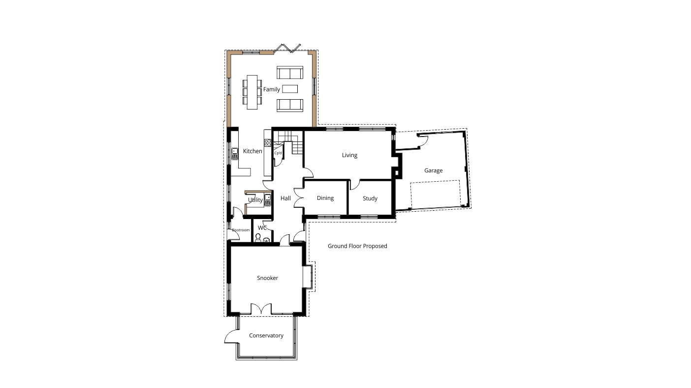 two storey rear extension for larger kitchen and master pics photos elevation plan design home extension