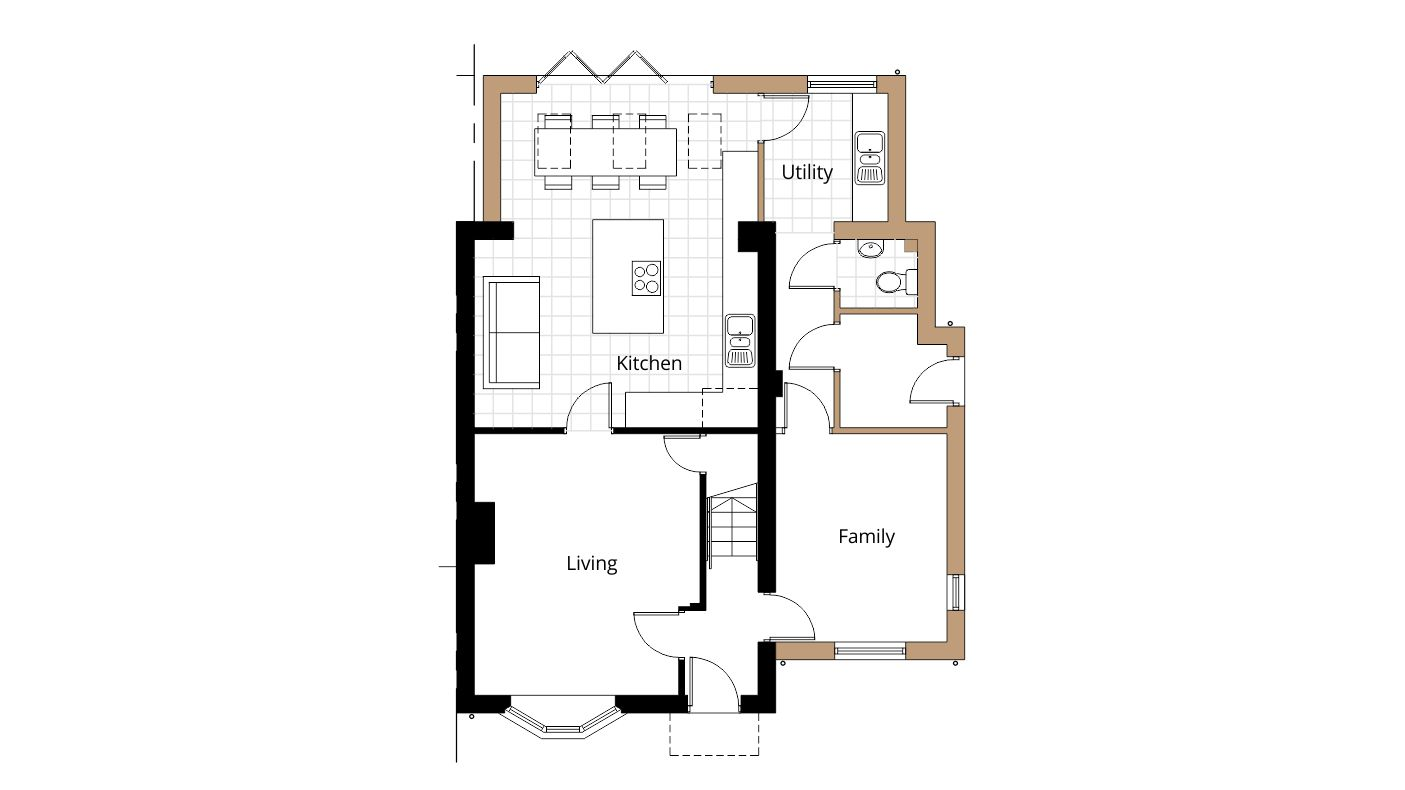 Architectural plans drawings for swindon borough council for Architectural floor plan drawings
