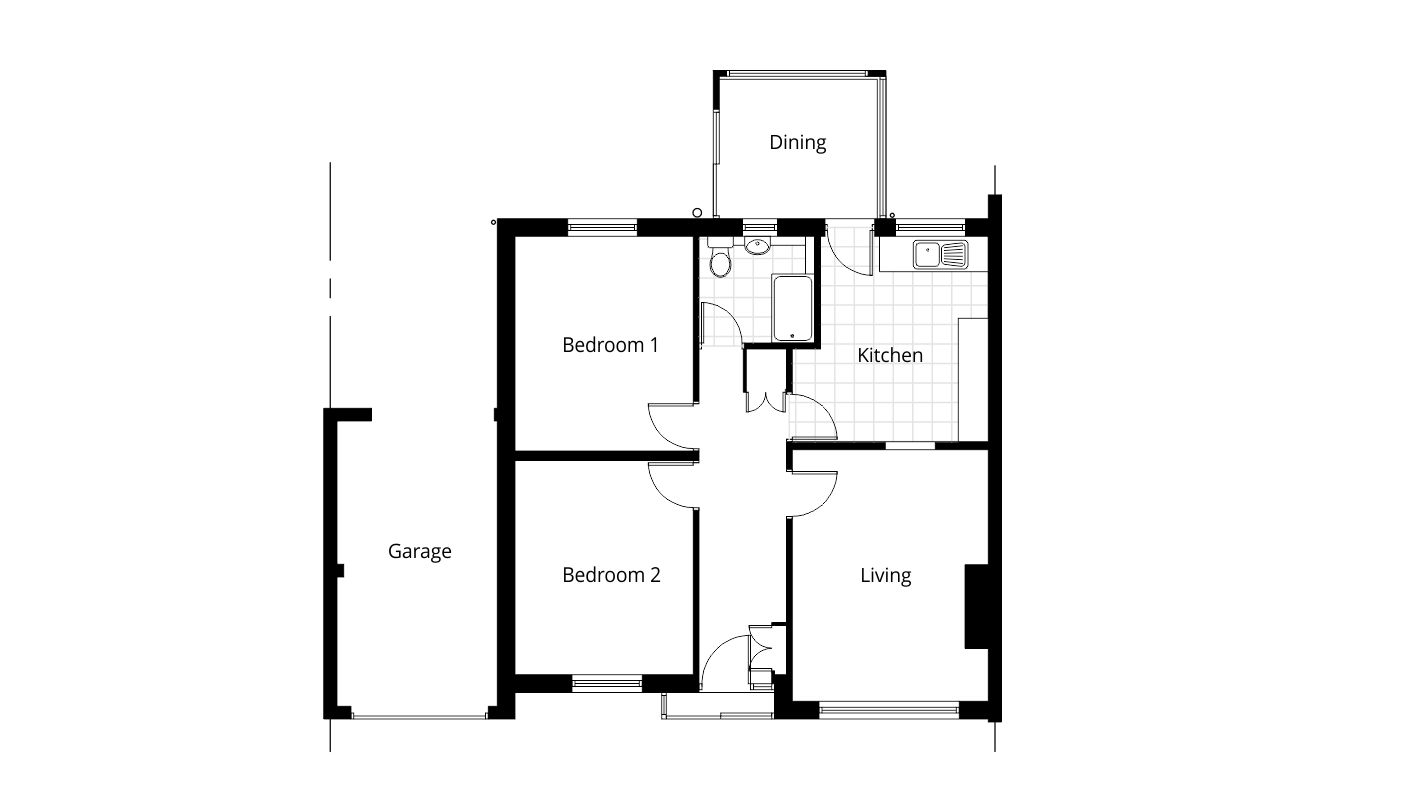 Bungalow rear extension planning permission - Project - Ben Williams ...