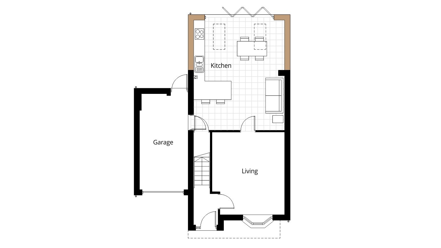Home Remodeling Kitchen Extension Bi Fold Doors Project Ben Williams Home Design And Architectural Services