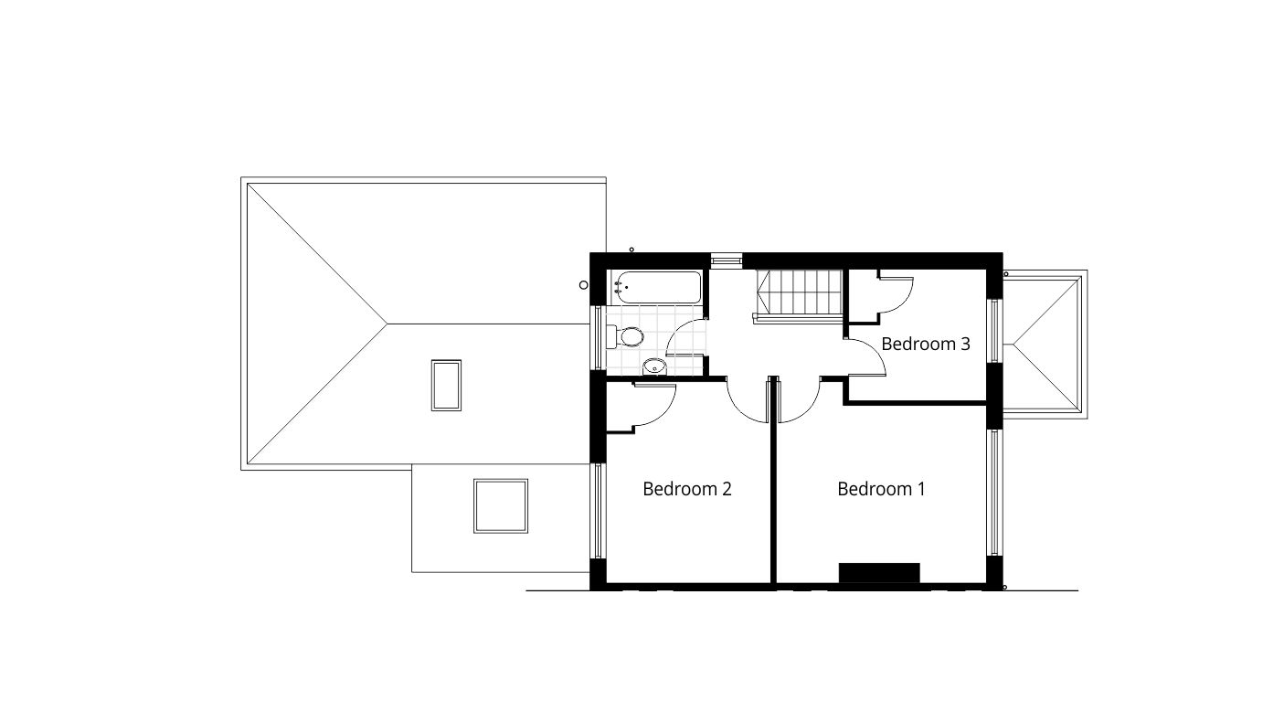 Single Storey Rear Extension Planning Application Drawings Proposed First Floor  Plan